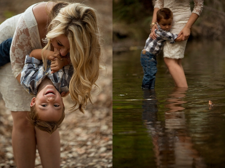 Photographers family session park outdoor sunset golden hour Kirstin Burrows Photography son nature beautiful light family session_0109